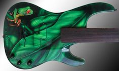 gibraltar-based jamie ghio sanches and mike braunewell of sworddesign have created a series of one of a kind instruments through modifying electric guitars. Bass Guitar Chords, Bass Guitar Straps, Bass Guitar Lessons, Yamaha Bass Guitar, Fender Bass Guitar, Acoustic Guitars, Guitar Sketch, Guitar Tattoo, Guitar Painting