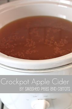 Smashed Peas and Carrots: Crockpot Apple Cider-RECIPE So easy! And the house will smell ahhhhmazing!