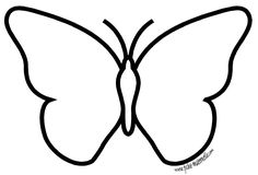 Butterfly template - could use with folded paper printmaking Papillon clipart cute butterfly outline - pin to your gallery. Explore what was found for the papillon clipart cute butterfly outlinefree stencils printable cut outButterfly Coloring Pages For K Butterfly Outline, Butterfly Template, Cute Butterfly, Butterfly Crafts, Butterfly Coloring Page, Gifts For Photographers, Stained Glass Patterns, Art Activities, Art School
