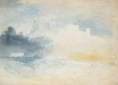 Joseph Mallord William Turner 1775–1851 Bamburgh Castle, Northumberland: Preparatory Study c.1837 Graphite and watercolour on paper 459 x 769 mm