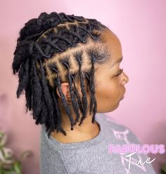 Short Dread Styles, Dreads Styles For Women, Short Dreadlocks Styles, Dreadlock Styles, Curly Hair Styles, Natural Hair Styles, Short Dreadlocks Hairstyles, Dreads Short Hair, Cool Hairstyles