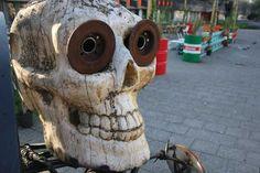 Wooden skull @ Baut (Amsterdam)