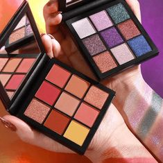Huda Beauty gave us some new mini palettes! She is launching two NEW Mini Obsessions Eyeshadow Palettes in Gemstone & Coral Obsessions on Tuesday, We've Huda Beauty Eyeshadow Palette, Makeup Palette, Eyeshadow Makeup, Skin Makeup, Makeup Art, Beauty Makeup, Sephora, Makeup News, Makeup Stuff