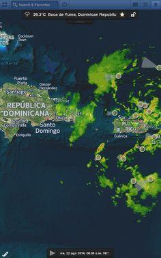 Bandas exteriores del Disturbio Tropical 96L generan tormentas sobre Puerto Rico y Oriente de República Dominicana