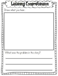 Listening Comprehension Recording Sheets FREEBIE Great for the listening center! Comprehension Activities, Reading Strategies, Reading Comprehension, Reading Resources, English Resources, Comprehension Questions, Reading Lessons, Listen To Reading, Guided Reading