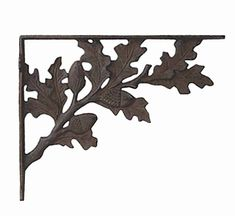 iron shelf brackets in decorative patterns from Museum Outlets Making Shelves, Cast Iron Brackets, Decorative Shelf Brackets, Jugendstil Design, Office Nook, Coffee Corner, Maine House, Acorn, Plant Hanger