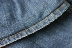 """Jeans :: """"original"""" hem-good pictures, looks easy...instructions in Portuguese but I used Google Translate"""
