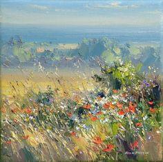 British Artist Rex PRESTON - Sunny Morning, Norfolk Coast