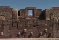 The ruins of Tiwanaku.