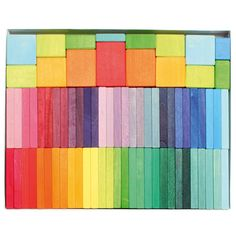 Grimms Color Chart Rally - Wooden Blocks Set