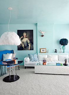 Adore this living room! So eclectic and original. <3