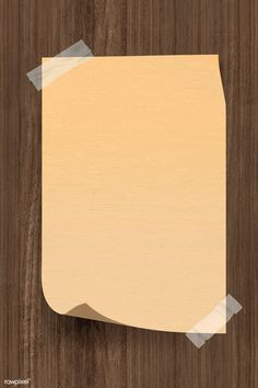 Vintage brown note paper taped on wooden background vector Background Vintage, Wooden Background, Paper Background, Textured Background, Diy Birthday Gifts For Dad, Brown Note, Powerpoint Background Design, Brown Wallpaper, Graphic Wallpaper