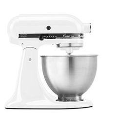 KitchenAid KSM75WH 4.5 Qt. Classic Plus Stand Mixer – White