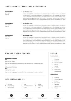 Microsoft Word Resume Template Grace Microsoft Word Resume Template  Mariam Abdallah Design