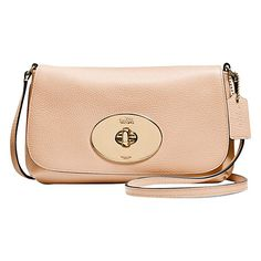 17a5f906077a Coach Polished Leather Across Body Clutch Bag at John Lewis   Partners