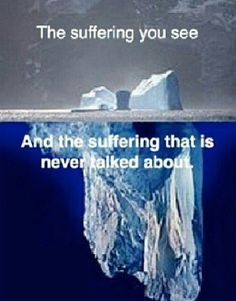 """The suffering you see & the suffering that is never talked about,"" #Grief #loss"