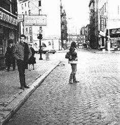 Dylanwalk - 1963 Bob Dylan and Friends by Jim Marshall - Greenwich Village - New York City 1963