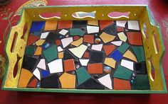 Sunset Coast: Broken Tile Painted Tray How To