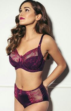 6016464c97 Sirens by Pour Moi Imogen Rose Full Cup Bra and Brief in Purple at