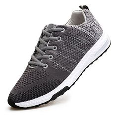 d84a15b39cb4 WELMEE Men s Knit Comfortable Breathable Casual Air Sneakers Lightweight  Tennis Walking Running Shoes
