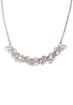 Konplott - WATERFALLS - Halskette - weiß/antiksilberfarben