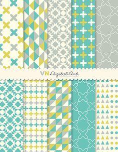 Digital Paper Instant Download geometrica carta di VNdigitalart