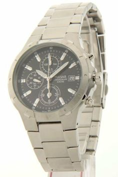 Mens Pulsar Stainless Steel ChronoGraph Date 10ATM Casual Watch PF8265 Pulsar. $69.95. Save 64%!