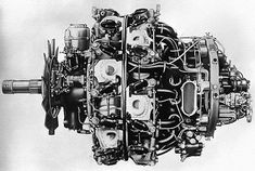 The german BMW 801 twin row radial engine formed the basis of the Focke Wulf design. This engine has the reputation as being among the better engine designs of WWII. Aircraft Engine, Ww2 Aircraft, Focke Wulf Fw 190, Radial Engine, Wwii, Engineering, German, Military, History
