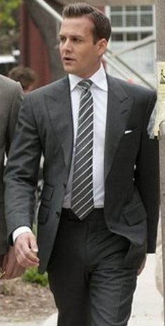 "Grey 2 Piece Suit Inspired By Suit Worn By Harvey Specter In ""Suits"" Tv Series 