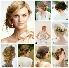 Foto: 1. via boards.weddingbee.com, 2. Canary Grey Photography, 3. blog.hairandmakeupbysteph.com, 4. Segerius Bruce Photography, 5. Gabe Aceves Photography, 6. witanddelight.tumblr.com, 7. sidewalkready.com, 8. via wearingitonmysleeves.blogspot.ca, 9. Tracie Howe Photography