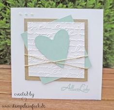 stempel einfach: da war doch noch was. karten Simple stamp: there was something else . - Weddings - Dresses, Engagement Rings, and Ideas! Love Scrapbook, Wedding Scrapbook, Scrapbook Cards, Pretty Cards, Love Cards, Simply Stamps, Wedding Cards Handmade, Pink Cards, Square Card