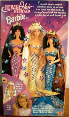 Jewel Hair Mermaid Barbie. I remember getting the one with the teal outfit for christmas :)
