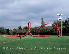 Gartenschlauch by Claes Oldenburg (1983). Stühlinger Park, Freiburg im Breisgau, Germany.