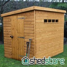 traditional pent security wooden shed