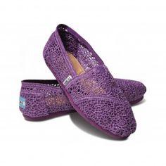 Toms Purple Crochet Women's Classics www.ridejo.net/toms-women.html