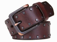 Gentleman Vintage Genuine Leather Rivet Studded Emboss Belt Strap Gift Idea Leather Accessories, Women Accessories, Fashion Accessories, Faux Leather Belts, Leather Cuffs, Fashion Belts, Men's Fashion, Cool Belt Buckles, Belt Shop