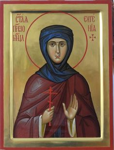 Eugenia of Rome by Vladimir Guk Paint Icon, Byzantine Icons, Early Christian, Painting Studio, Icon Collection, Religious Icons, Orthodox Icons, Russian Art, Saints