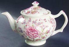 Johnson Brothers ROSE CHINTZ PINK 4 Cup Tea Pot