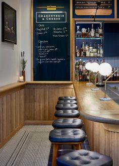 Modern Pantry restaurant interior reflects founder's Danish roots : Modern Pantry restaurant by AvroKo Small Restaurant Design, Restaurant Seating, Restaurant Concept, Restaurant Interior Design, Commercial Interior Design, Shop Interior Design, Cafe Bar, Pub Interior, Interior Modern