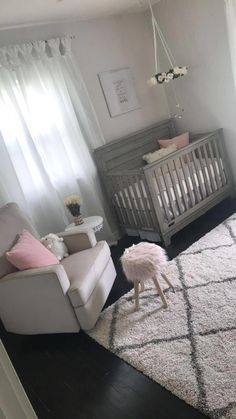 baby girl nursery room ideas 578994095824416612 - If you adore militant design, weve compiled a accrual of {} baby nursery ideas that are chilly sufficient for baby to adore and design-conscious adults to appreciate, too. Source by Baby Bedroom, Baby Room Decor, Nursery Room, Girls Bedroom, Baby Rooms, Room Baby, Child Room, Baby Room Grey, Nursery Set Up