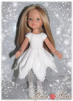 """Добрый день, девчонки! <br>Сегодня хочу представить вашему вниманию мое видение платья по """"МК №22 Платье """"Акварельки"""" от Ольги Шулятецкой"""" #участвуюВконкурсеМК3@kasatkadolls <br>Мастер-класс замечательный, модель очень интересная, но не могу сказать, что сразу решилась его вязать. Помню, когда.."""