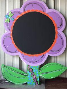 Flower chalkboard
