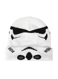 New Star Wars 7 StormTroopers HAT CAP Knit Winter White HAT Beanie Cosplay   StarWars   c05445dfbecf