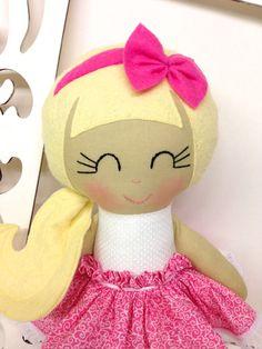 Muñecas hechas a mano hecho en casa Muñecas Muñeca De Trapo Tela por SewManyPretties