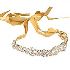 Santfe Fashion Crystal Rhinestone Gold/Silver Plated 3 in 1 Jewelry Headband Necklace Waist Chain,Great for Wedding Bridal Bridesmaid Prom