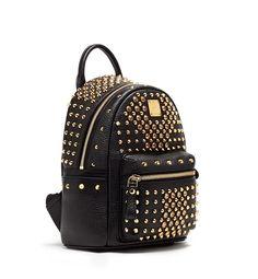 MCM DIAMOND STARK SPECIAL BLACK - MCM-2 #mcm #backpack #black #bag