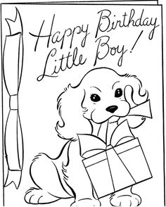 happy-birthday-boy-coloringpage✖️Adult Coloring Pages➕More Pins Like This At FOSTERGINGER @ Pinterest ➖