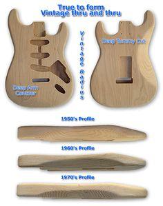 Fender Guitar Parts, Strat Body, strat neck, stratocaster parts Fender Bass Guitar, Bass Ukulele, Stratocaster Guitar, Fender Guitars, Guitar Crafts, Guitar Diy, Guitar Tutorial, Guitar Building, Guitar Pedals