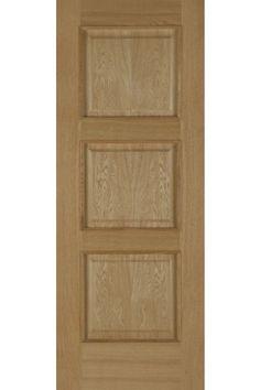 Internal Door Oak Madrid Fire Door 3 Panel with Raised Mouldings Pre Finished £248