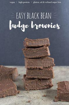 Easy Black Bean Fudge Brownies {oil, gluten & refined sugar free}